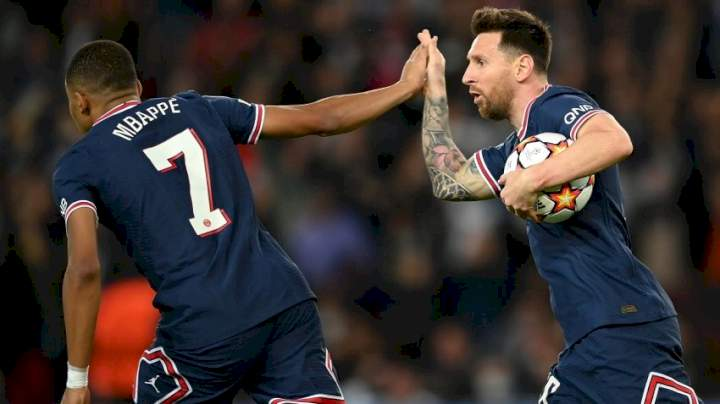 PSG vs Leipzig: What Mbappe said about Messi after 3-2 win in Champions League