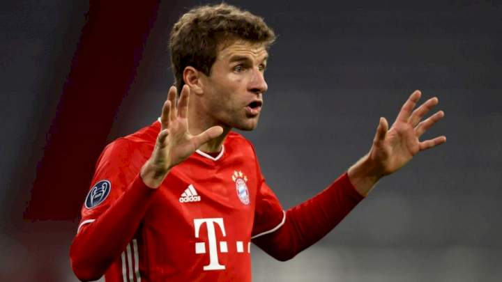 Thomas Müller reacts to Bayern Munich's 5-0 loss to Mönchengladbach, exempts one player