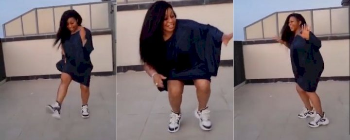 Actress, Rita Dominic shows off her South African dance steps (Video)