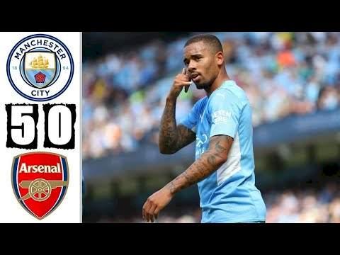 Manchester City 5 - 0 Arsenal (Aug-28-2021) Premier League Highlights