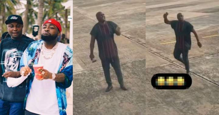 """""""My oga get money"""" - Isreal DMW screams at airport while ringing a bell (Video)"""