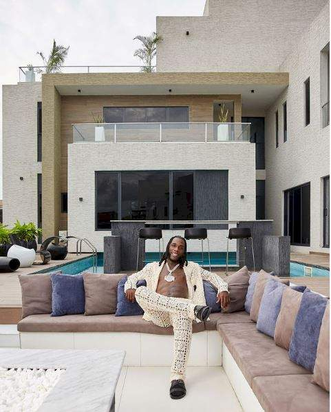 """""""This is where I created my Grammy-winning album"""" - Burna Boy shows off his magnificent mansion (Video)"""