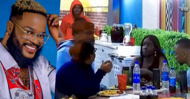 """BBNaija: """"Anybody can be wildcard but not you"""" - Whitemoney gets accolades over his cooking skill (Video)"""