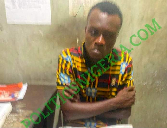 Man arrested for allegedly streaming explicit content on a billboard in Port-Harcourt (Photos)
