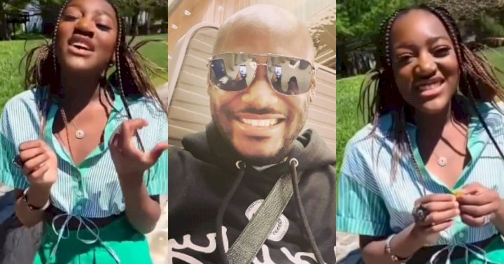 """""""I'm not bald"""" - 2face Idibia's daughter, Ehi reacts after being called her father's lookalike (Video)"""