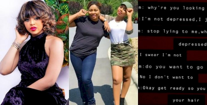 Stop lying, you are depressed - Leaked chat between Regina Daniels and her mother