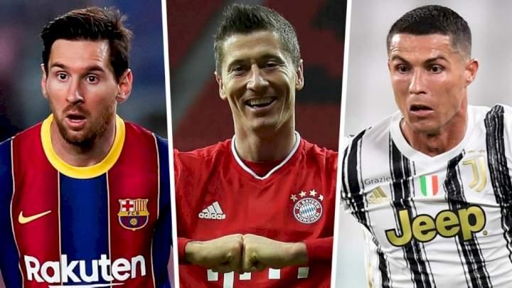 Ronaldo, Messi lose European Golden Shoe to Lewandowski