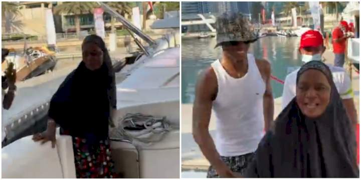 She's my Queen - Odion Ighalo says as he takes his mum on vacation to Dubai (Video)
