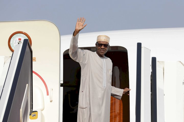 Buhari goes to UK for medical check-up