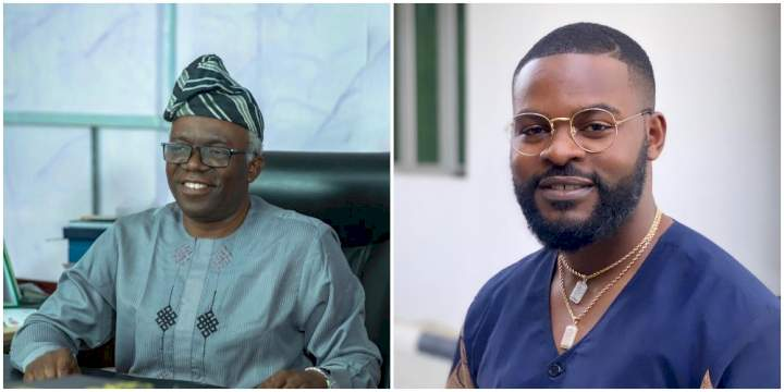 Thanks for being a great teacher & mentor - Falz celebrates his father's birthday in style