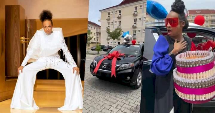 Denrele Edun gets Lexus SUV as gift in celebration of his 40th birthday (Video)