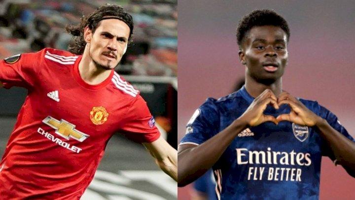 UEL: UEFA names Cavani, Saka, others in Europa League team (Full list)