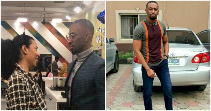 """#BBNaija: """"God buttered my bread today because I saw you taking off your bra"""" - Saga to Nini (Video)"""