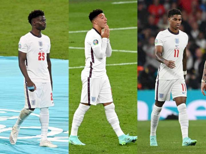 Four persons arrested over racial abuse of England's Rashford, Saka, Sancho