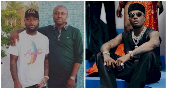 Reactions as Davido's PA Israel DMW comments on Wizkid's new photos