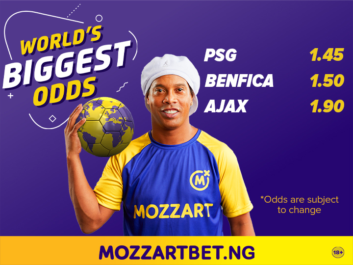 Mozzart Bet offers World's Biggest Odds in three Saturday Matches