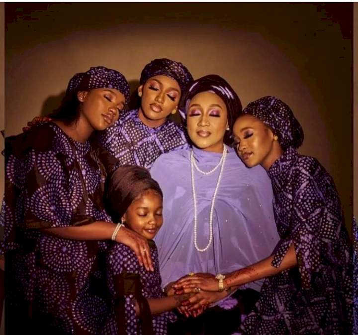 Stunning photos of President Buhari's daughter, Hadiza Bello and her beautiful daughters