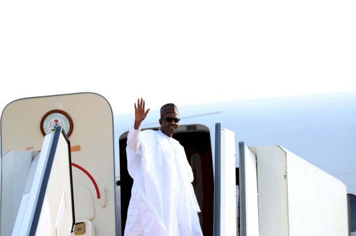 Nigerians react as President Buhari travels to London again for medical checkup