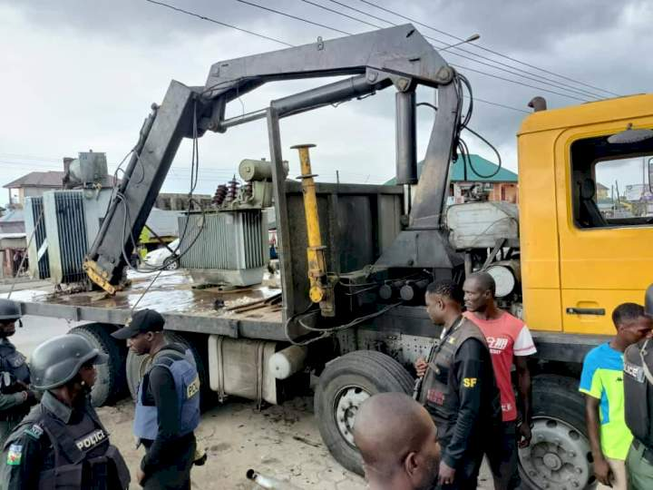 'Prominent chief' caught as police foil illegal sale of two transformers in Bayelsa community