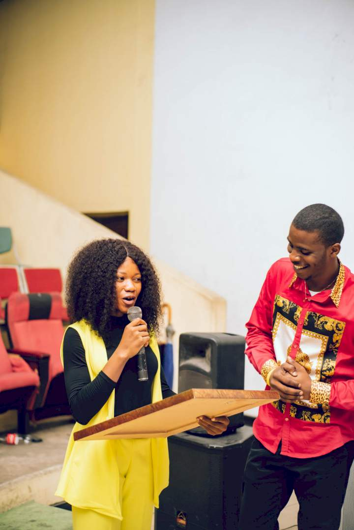 Lady awards her man for being a caring and supportive boyfriend (Photos)
