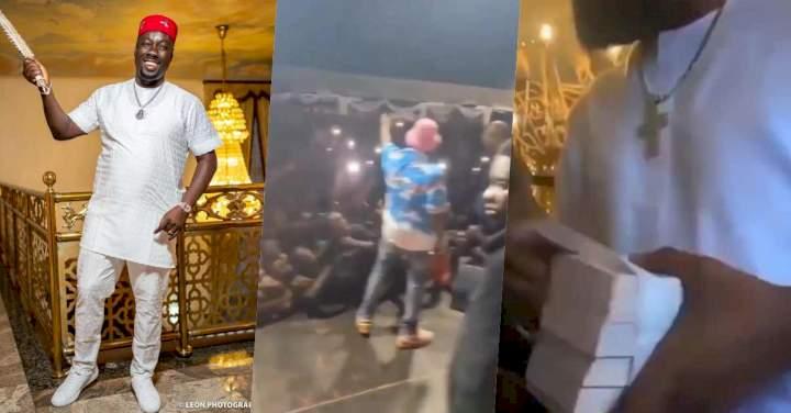 Davido, D'banj and others storm Obi Cubana's mother's burial (Video)
