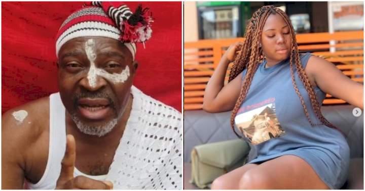 """You are beginning to talk too much,"" Actress Ujunwa Mandy tells her senior colleague, Kanayo O. Kanayo"