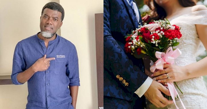 """Don't gain your wedding and lose your marriage"" - Reno Omokri advises couples"