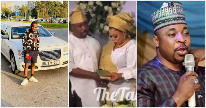 MC Oluomo's son gets dragged after his dad allegedly dumped socialite, Ehi for another woman