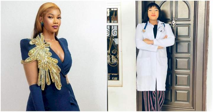 Reality Tv star, Dr. Cherry advises ladies to get a real life investment as she reacts to Tacha's video