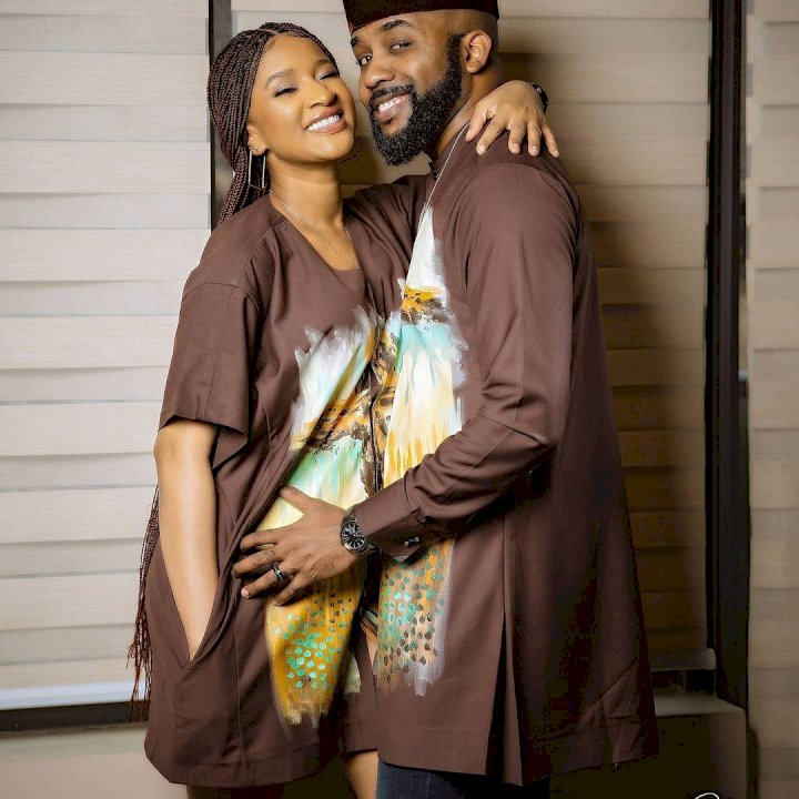 """You're restricting our airflows sir"" – Reactions as singer, Banky W shares loved up photos with wife, Adesua"