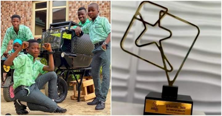 Ikorodu Bois bags their first award for their success (Photo)