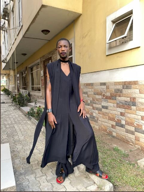 Paystack co-founder, Ezra Olubi, shares photos of the bizarre attire he rocked to a wedding ceremony