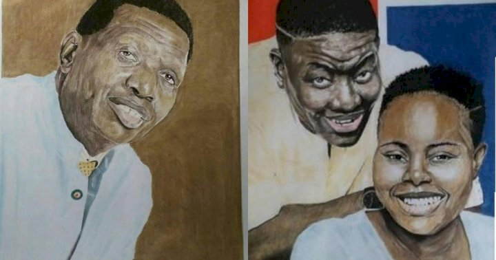 Nigerians drag Pastor Adeboye's son, Leke over his statement to artist who made a painting of him and his father