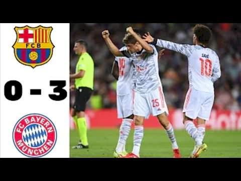 Barcelona 0 - 3 Bayern Munich (Sep-14-2021) UEFA Champions League Highlights