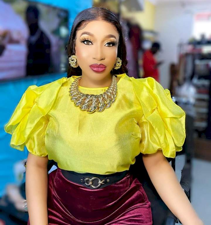 """I'm colour blind, i see colours in shades of grey"" - Actress, Tonto Dikeh shares facts about herself"