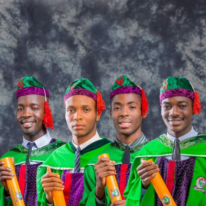 Man celebrates studious university clique after they all bagged a Second Class Upper Division degree