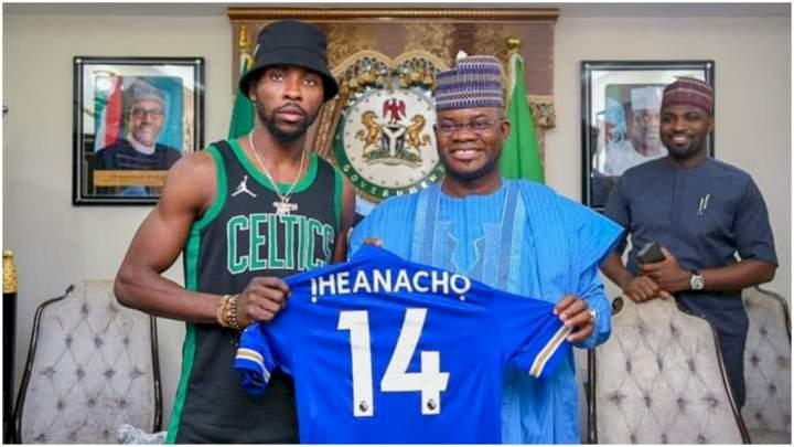 2023: Kelechi Iheanacho visits Gov Yahaya Bello (Photos)