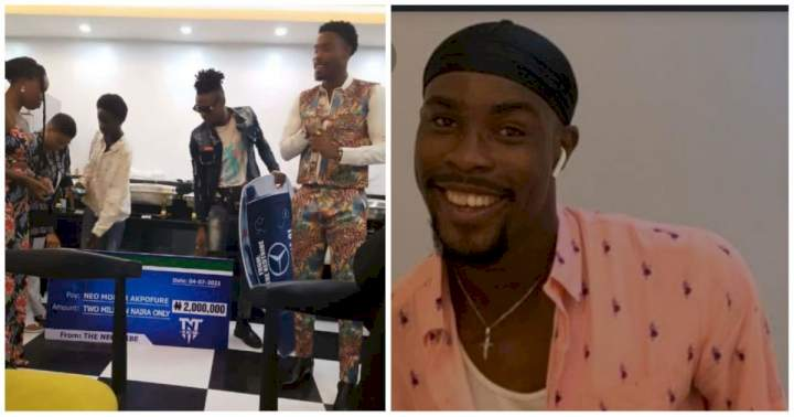 BBNaija's Neo gets N2million and a brand new car on his birthday (Photo)