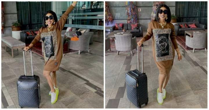 """""""I'm not traveling to Oba, I'm going to husband house"""" - Tonto Dikeh says as she shares new photo"""
