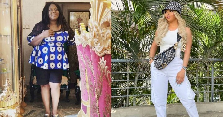 """""""A wealthy woman is nothing without a man"""" - Actress, Uche Ebere shades Toke Makinwa"""