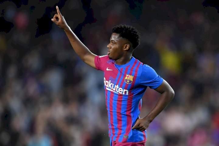 LaLiga: Ansu Fati speaks on 'pressure' of taking Messi's no 10 shirt at Barcelona