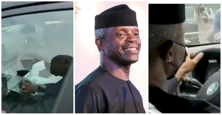 Watch as VP Yemi Osinbajo drives Kona, Nigerian-made electric car at #MadeInNigeria exhibition