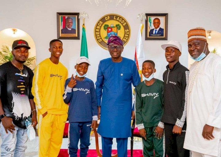 Gov. Sanwo-Olu host teen comedians, Ikorodu Bois, applauds their creativity