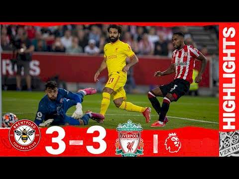 Brentford 3 - 3 Liverpool (Sep-25-2021) Premier League Highlights