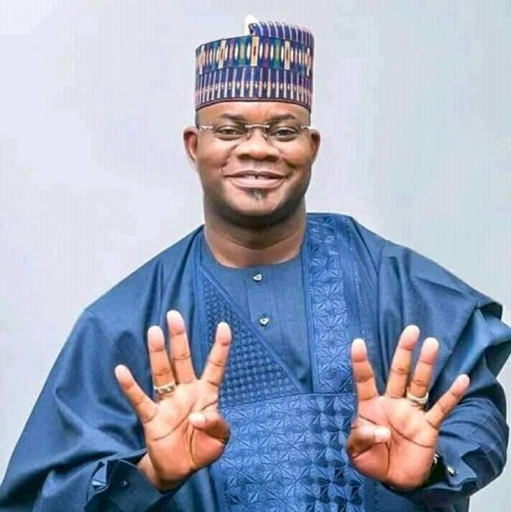 Watch Governor Yahaya Bello show off dance moves during work-out session (Video)