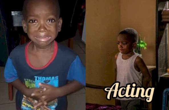 """5-Year-Old """"Mummy Calm Down"""" Boy, Joins Nollywood, As He Bags First Movie Role As Son Of Eniola Badmus"""