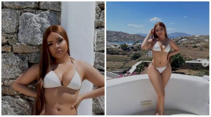 """Who dey breath"" - Fans react to new photos of Nengi in Greece"