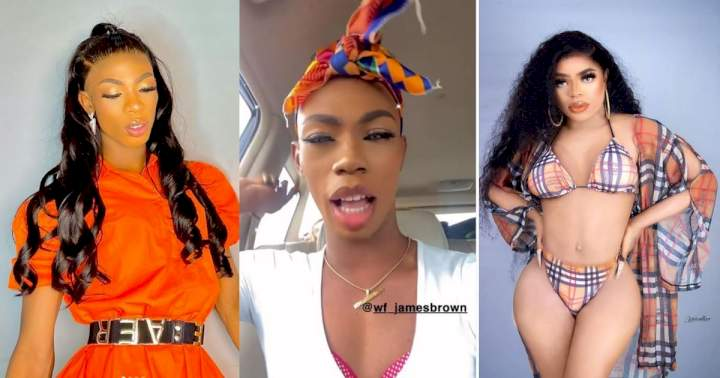 """""""Do not preach what you cannot do"""" - James Brown tackles Bobrisky over post-surgery photos"""