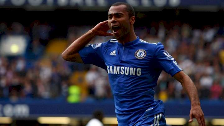 Ex-Chelsea defender, Ashley Cole reacts to his new coaching job