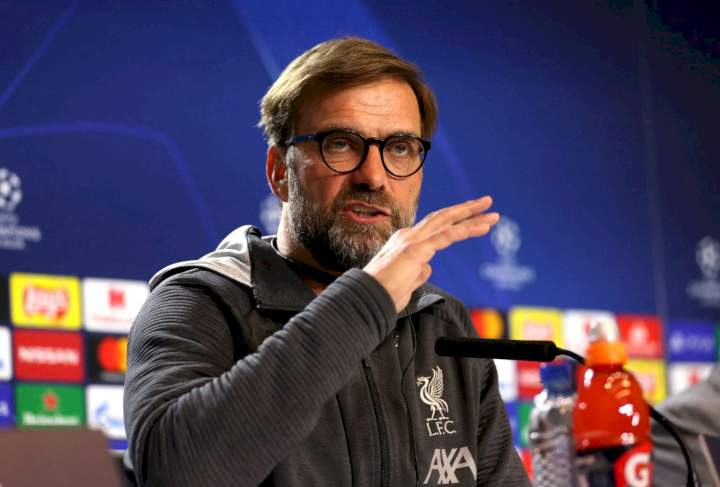 EPL: Klopp rates Chelsea, Man United's title chances next season